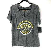 NCAA Appalachian State University Mountaineers Womens T Shirt App State Gray XL - $14.50