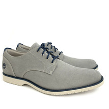 Timberland Men's Woodhull Light Grey Canvas Oxford Shoes A1XSB - $59.99