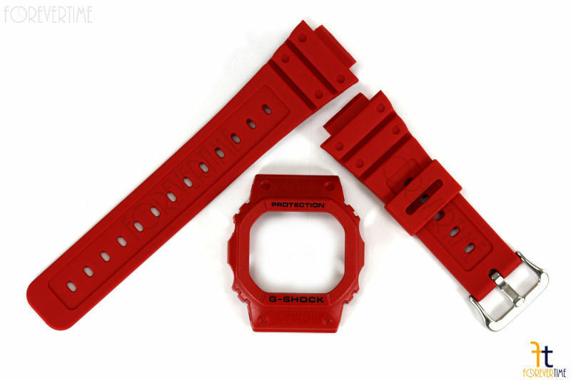 CASIO G-Shock DW-5600P-4 Original Red Watch BAND & BEZEL Combo