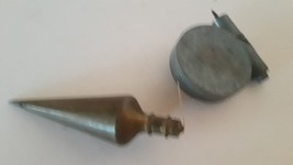 Vintage Linemaster Brass Plumb with Line Reel - $19.60