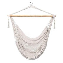 Techcell Hammock Chair, Mesh Hanging Chair, Polyester Cotton Swing (White) - $51.76