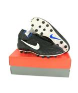 NOS Vtg 90s Nike Tiempo Premier M FG Soccer Cleats Shoes Leather Black M... - $143.50