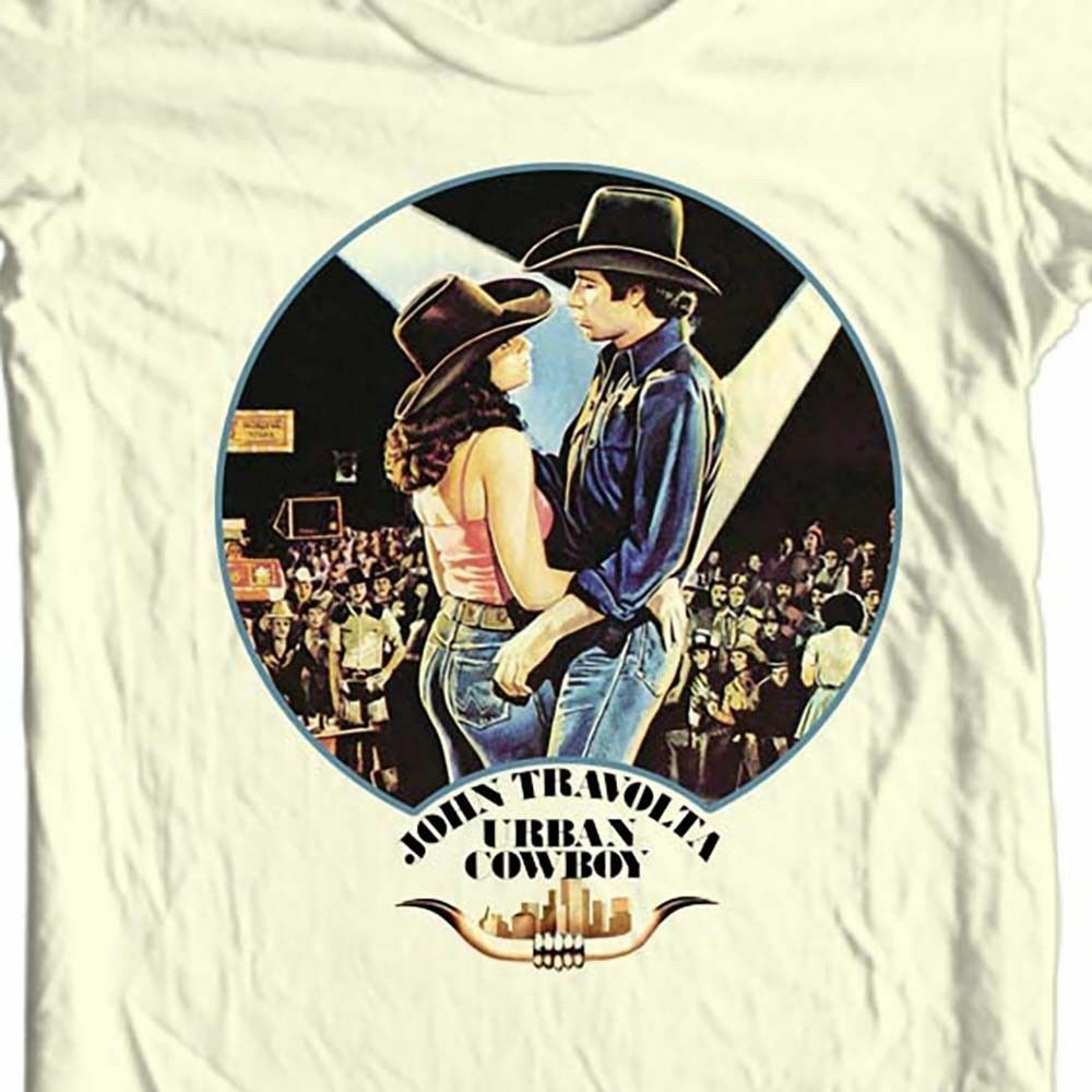 Urban Cowboy T-shirt Free Shipping retro 1980s country music movie cotton tee
