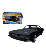 Lettys Plymouth Barracuda Matt Black Fast & Furious 7 Movie 1/24 Diecast... - $48.95