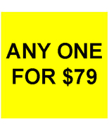TUES SPECIAL PICK ANY ONE FOR $79 RED DEAL BEST... - $0.00