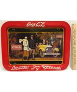 Coca Cola Tray Folding Coke 1924 Touring Car & Young Couple 1987 Mfg Leg... - $8.90