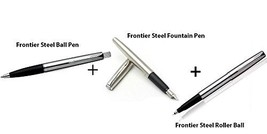 Combo Pack - Parker Frontier Steel Ball Point Pen + Frontier Steel Roller Ball + - $49.49