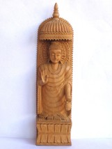 Wooden Buddha Figurine handmade statue Carved Sculpture for Home Decor I... - $69.30