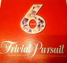 Used Parker Brothers Trivial Pursuit Board Game Volume 6 Great Condition! - $28.22