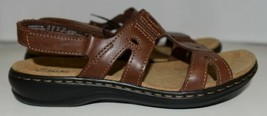 Clarks Collections 118414 Womens Leather Sandals Color Brown Size 6 image 2