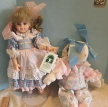 "vintage plastic 14"" ""PENNY & PETUNIA""BUNNY ROBIN WOOD collectible  doll ... - $49.50"