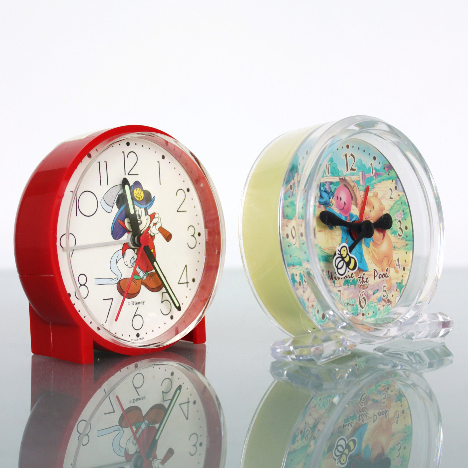Primary image for Clock Mantel Alarm DISNEY Working! MICKEY MOUSE (Rarity) Germany Winnie The Pooh