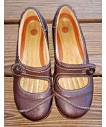 Clarks Size 5.5 M Comfort Career Brown Unstructured 85174 Shoes Mary Jan... - $24.22