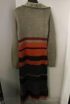 Free People Women's Long Knit Cardigan Size S/P Boho Hippie Sweatercoat Maxi image 2