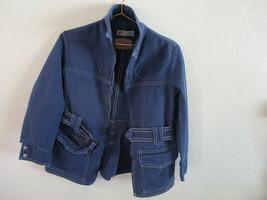 LEVIS for Gals Belted Jacket BIG E 60s 70s Vintage Western Wear Blue Den... - $123.75