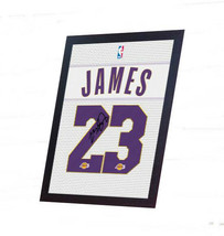 LeBron James NBA Lakers signed autograph printed on 100% COTTON Canvas F... - $21.90