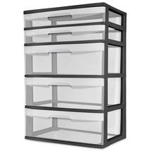 5 Drawer Wide Tower Storage Sterilite Organizer Cabinet Heavy Plastic *NEW* - $61.54 CAD