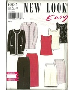 New Look Sewing Pattern 6921 Misses Womens Jacket Skirt Top 8 10 12 14 1... - $9.99
