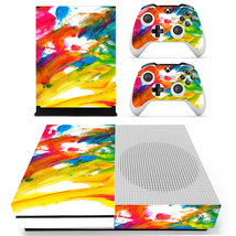 Colorful Wallpaper xbox one S console and 2 controllers - $15.00