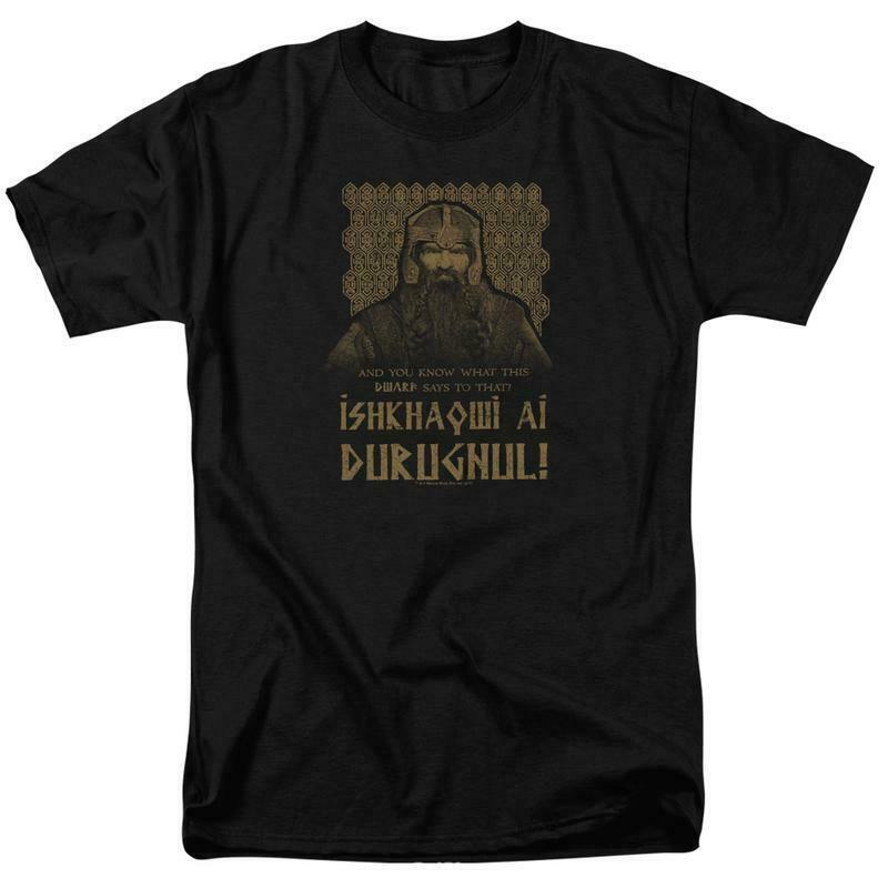The Lord of the Ring Dwarf Warrior Gimli graphic cotton t-shirt LOR1051