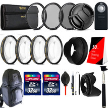 58mm UV CPL ND Filter Kit with 64GB Top Accessory Kit for CANON EOS 750D... - $79.60