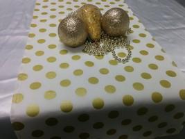 GOLD DOT RUNNER- Gold dot Table Runner or Napkins -or Placemats -Centerp... - $8.50