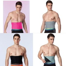 Waist Belt Men Slimming Body Shaper Sweat Trainer Band Compression Strap... - $14.55