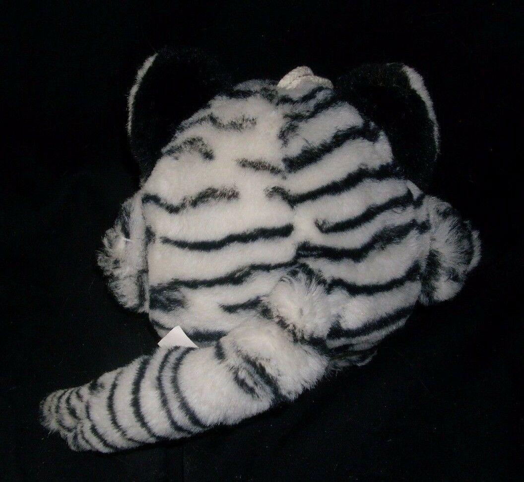 VINTAGE MAIN JOY LIMITED WHITE BLACK PURRING PURR TIGER STUFFED ANIMAL PLUSH TOY image 4