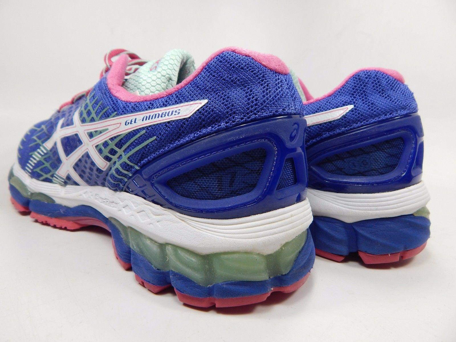 Asics Gel Nimbus 17 Women's Running Shoes Size US 8.5 M (B) EU 40 Blue Pink