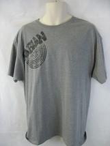 Sabian Cymbals Gray Unisex Short Sleeve T Shirt XL Hanes - $9.89