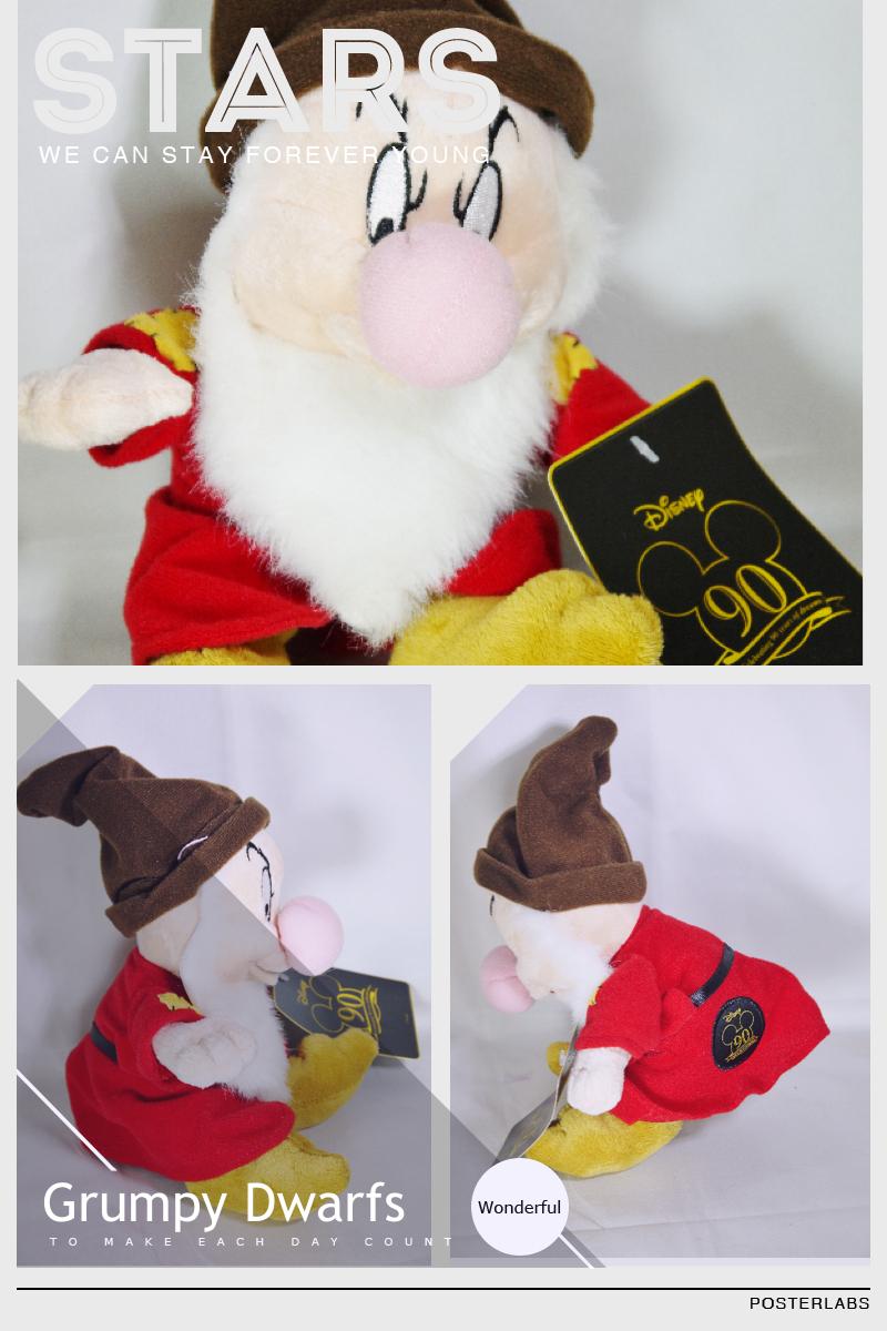 Disney snow white   7 dwarfs grumpy plush toy