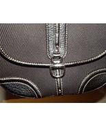 Etienne Aigner Saddlebag Handbag Black Leather & Twill Shoulderbag LN - $23.76