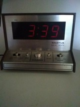 Vintage Spartus Solid State Alarm clock w/ snoozer works - $20.79