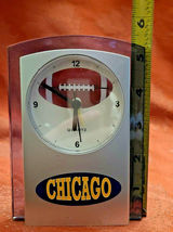 "Chicago Quartz Movement Football Acrylic Alarm Snooze Clock 5 1/2"" Tall 4"" Wide  image 2"