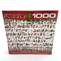 Eurographics Christmas Holiday Dogs Puppies Jigsaw Puzzle 1000 Pieces NE... - $24.66