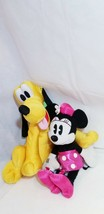 "Disney Bundle 17"" Minnie retro pink + JUMBO soft golden Pluto pet dog pl... - $39.19"