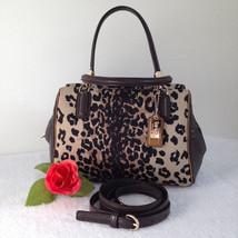 Coach Madison Ocelot Print Mini Handbag Satchel Lt Khaki - Style 49969 -... - $74.24