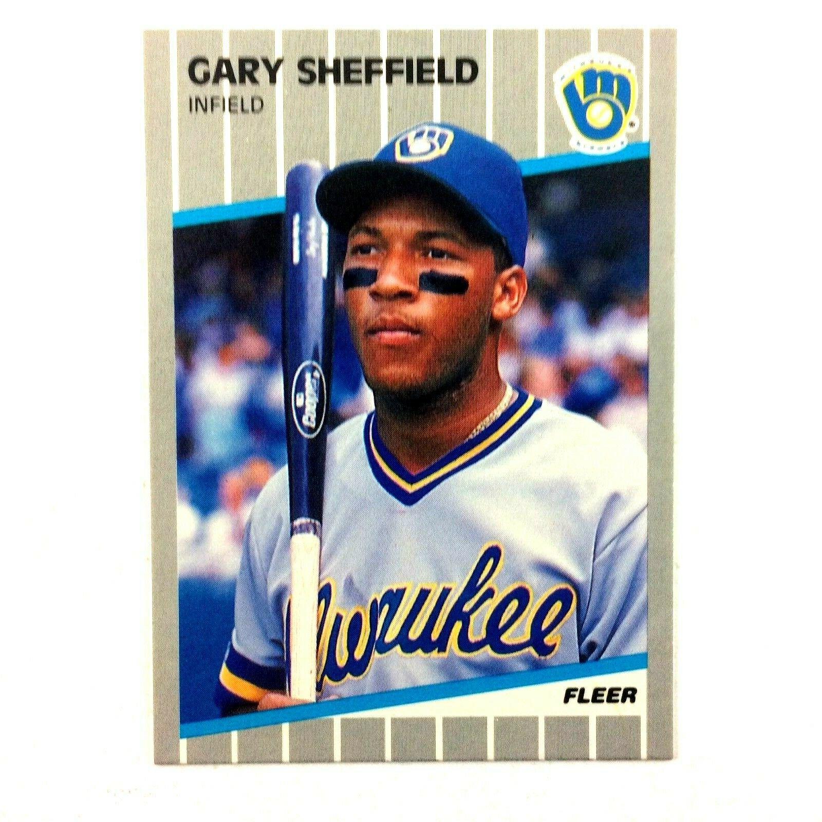 Gary Sheffield 1989 Fleer Rookie Card #196 MLB HOF Milwaukee Brewers - $1.93