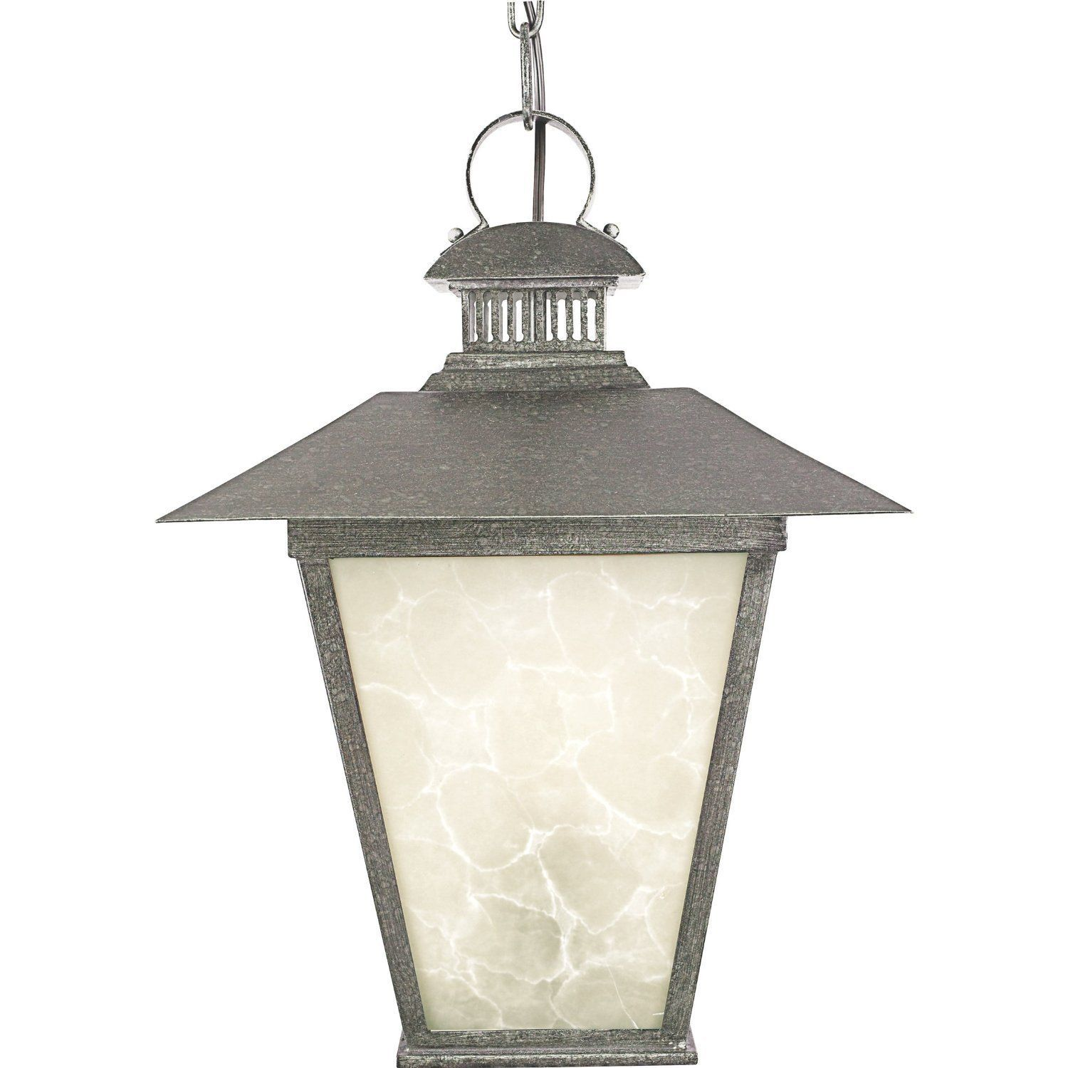 Quoizel Lighting Outdoor Outside Hanging Lantern Marble Glass Rustic Style