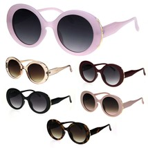 Womens Retro Mod Thick Plastic Round Oval Plastic Sunglasses - $9.95