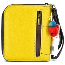 Chala Handbags Faux Leather Whimsical Llama Yellow Zip Around Wristlet Wallet image 2