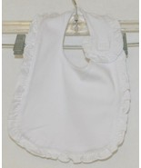 Blanks Boutique Infant Bib And Burp Cloth Set Solid White With Ruffle - $9.99