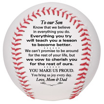 Custom Baseball To Our Son Wedding, Graduation, Birthday, Christmas Gift - $34.95