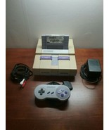 Super Nintendo SNES System Console with 1 game 1 Controller and Cords - $50.00