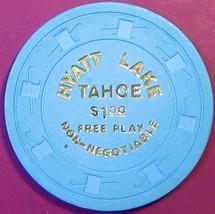 $1 NN Casino Chip. Hyatt, Lake Tahoe, NV. Free Play. T38. - $5.50