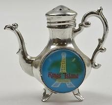 "Kings Island Metal Eiffel Tower Tea Pot Salt  Shaker 2.75"" Tall Collectible - $6.99"