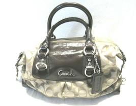 Coach F15443 Ashley Multicolor Leather Trim Satchel Shoulder Bag Purse T... - $39.18