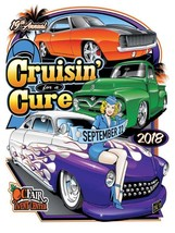 Cruisin' for a Cure 2018 Car Event Metal Sign - $25.00