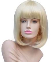 Annivia Short Platinum Blonde Bob Wigs for White Women 12'' Quality Heat... - $15.92