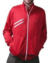 Orisue Mens Red Finisher Polyester Zip Up Track Jacket 1005030 XL 2X 3X 4X NWT